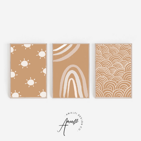 EARTH TONES PRINT SET- INSTANT DOWNLOAD