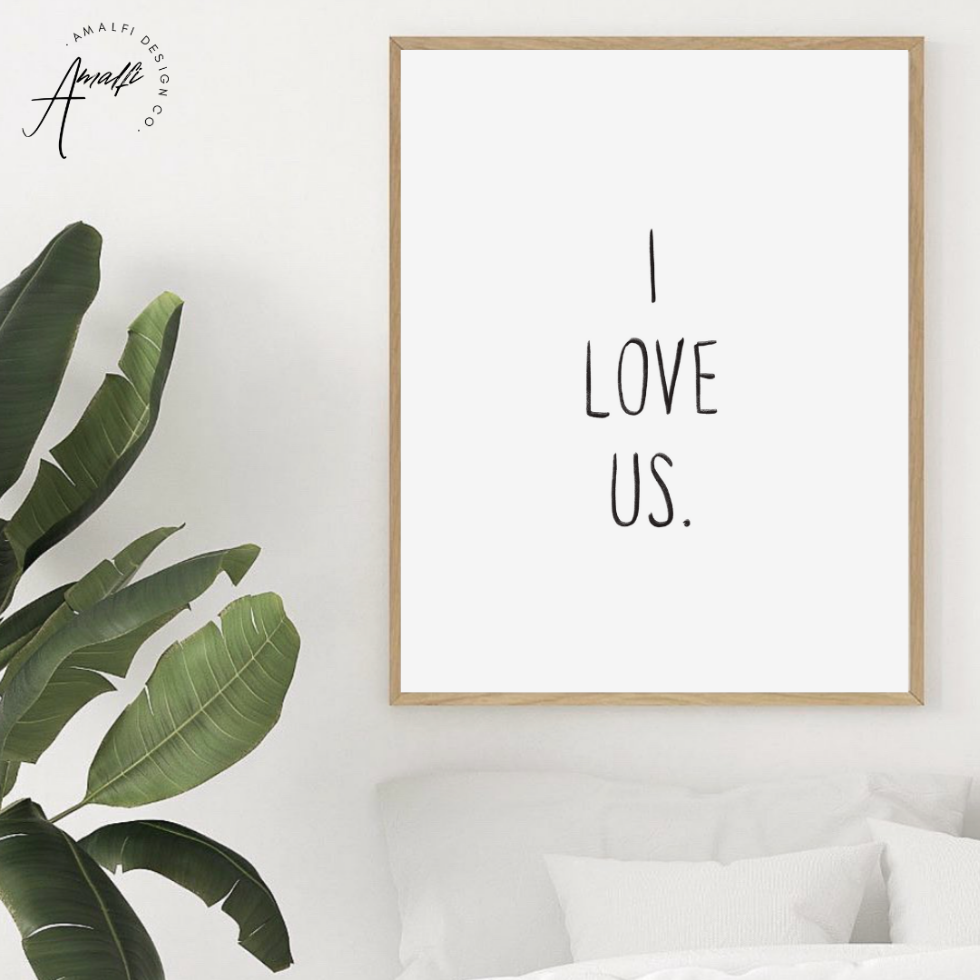 "Buy ""I LOVE US"" PRINT- INSTANT DOWNLOADfrom Amalfi Boutique"