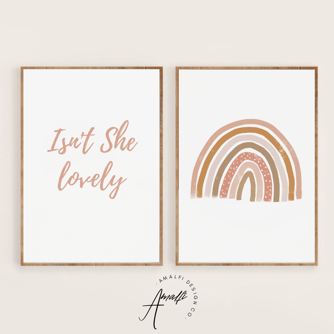 Buy ISN'T SHE LOVELY PRINT SET- INSTANT DOWNLOADfrom Amalfi Boutique