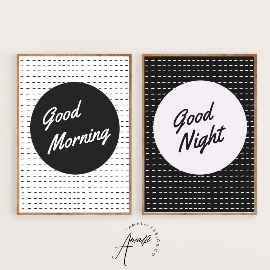 Buy MORNING AND NIGHT PRINT SET- INSTANT DOWNLOADfrom Amalfi Boutique