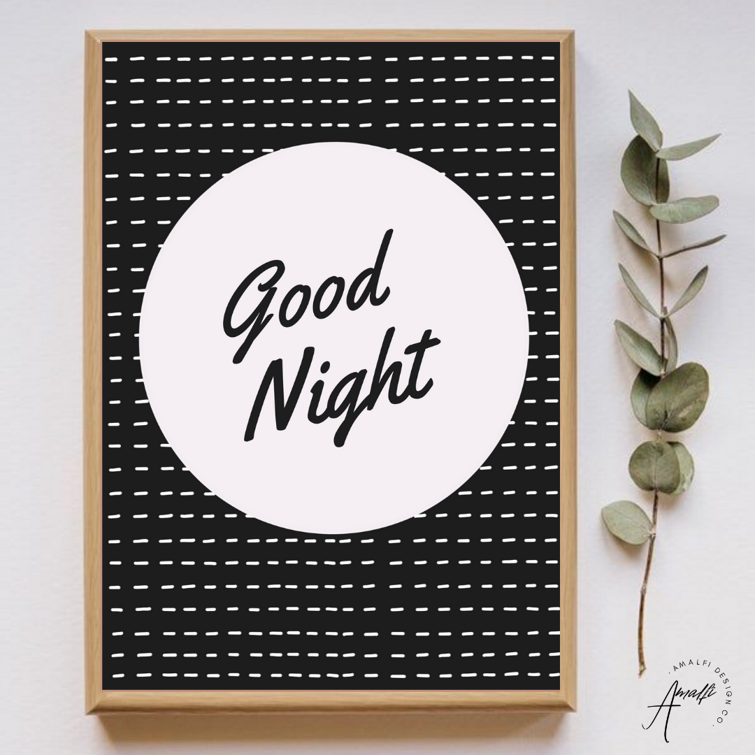 Buy GOOD NIGHT PRINT- INSTANT DOWNLOADfrom Amalfi Boutique