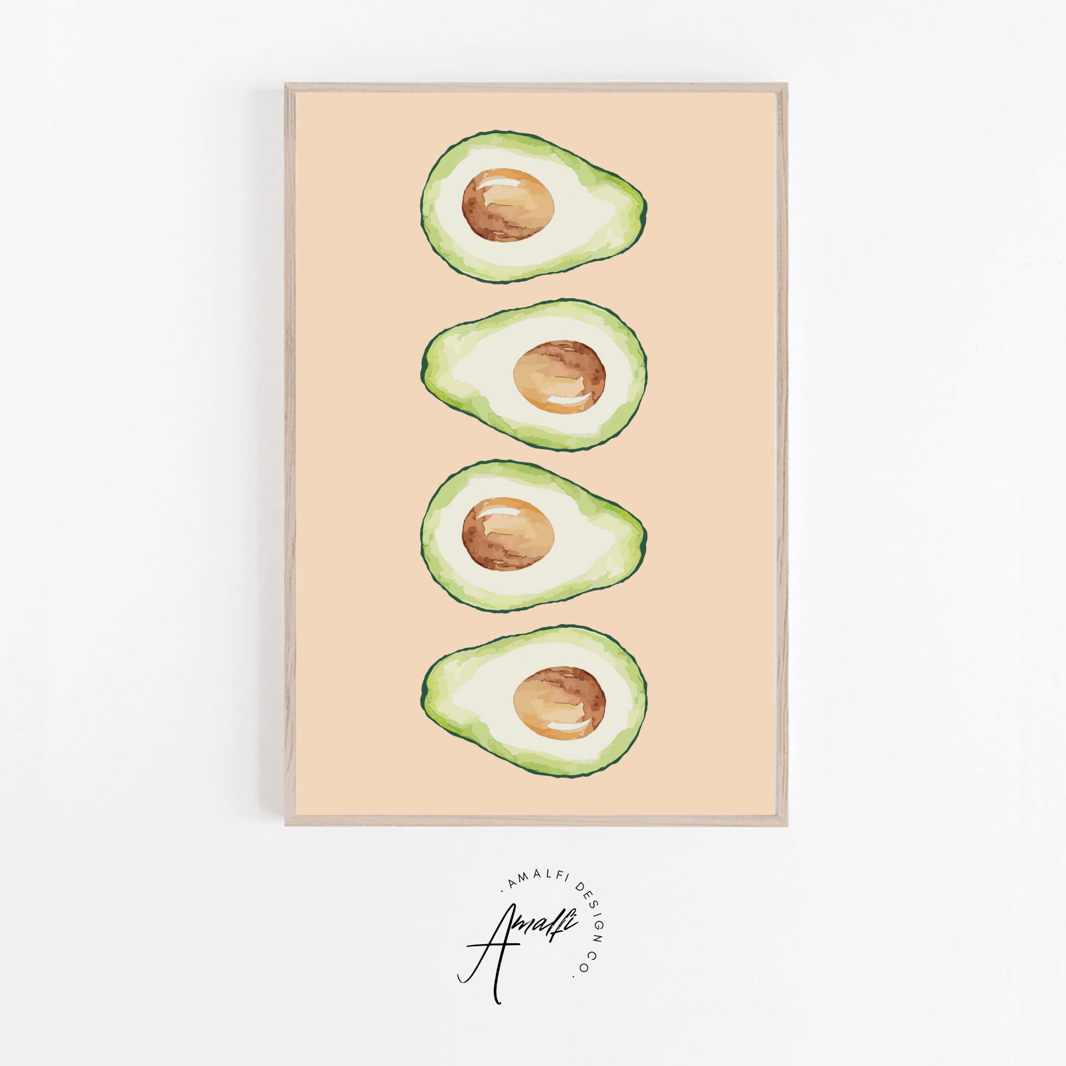 Buy PINK AVOCADO PRINT- INSTANT DOWNLOADfrom Amalfi Boutique