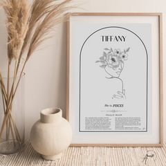 PISCES - ZODIAC FEMME PERSONALISED WALL PRINT- DIGITAL