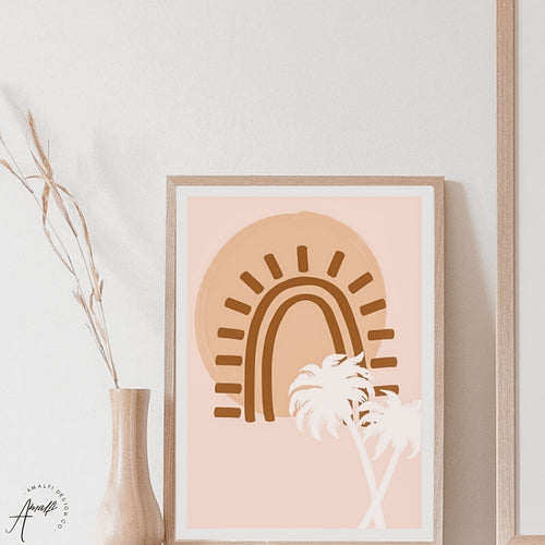 SUNSET PALMS PRINT- INSTANT DOWNLOAD
