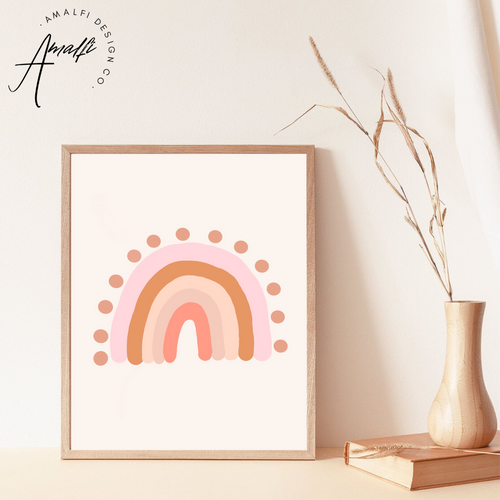 PINK RAINBOW PRINT- INSTANT DOWNLOAD