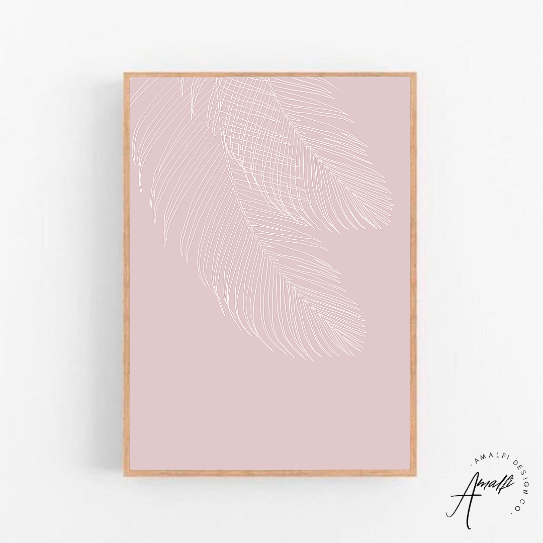 Buy WILTED PALM PRINT (PINK BACKGROUND)- INSTANT DOWNLOADfrom Amalfi Boutique
