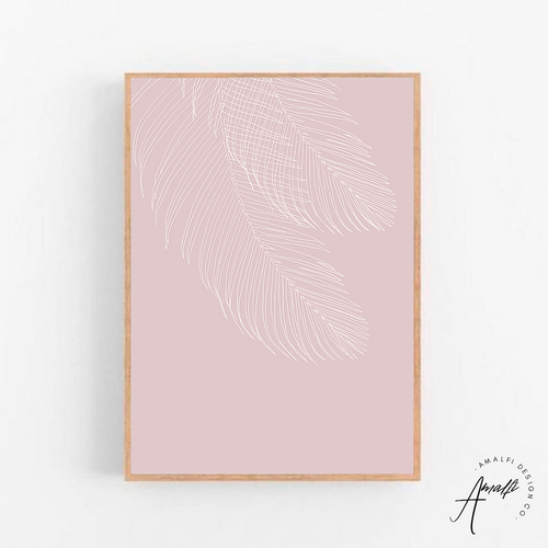 WILTED PALM PRINT (PINK BACKGROUND)- INSTANT DOWNLOAD