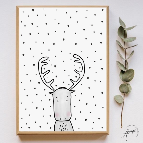 WOODLANDS MOOSE PRINT- INSTANT DOWNLOAD