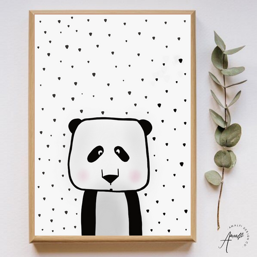 WOODLANDS PANDA PRINT- INSTANT DOWNLOAD