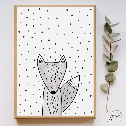 WOODLANDS FOX PRINT- INSTANT DOWNLOAD