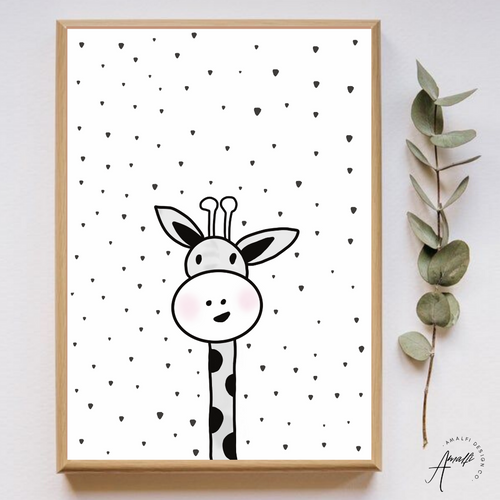 WOODLANDS GIRAFFE PRINT- INSTANT DOWNLOAD