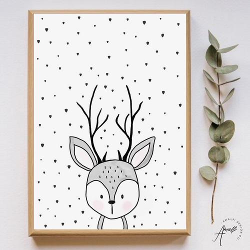 WOODLANDS REINDEER PRINT- INSTANT DOWNLOAD
