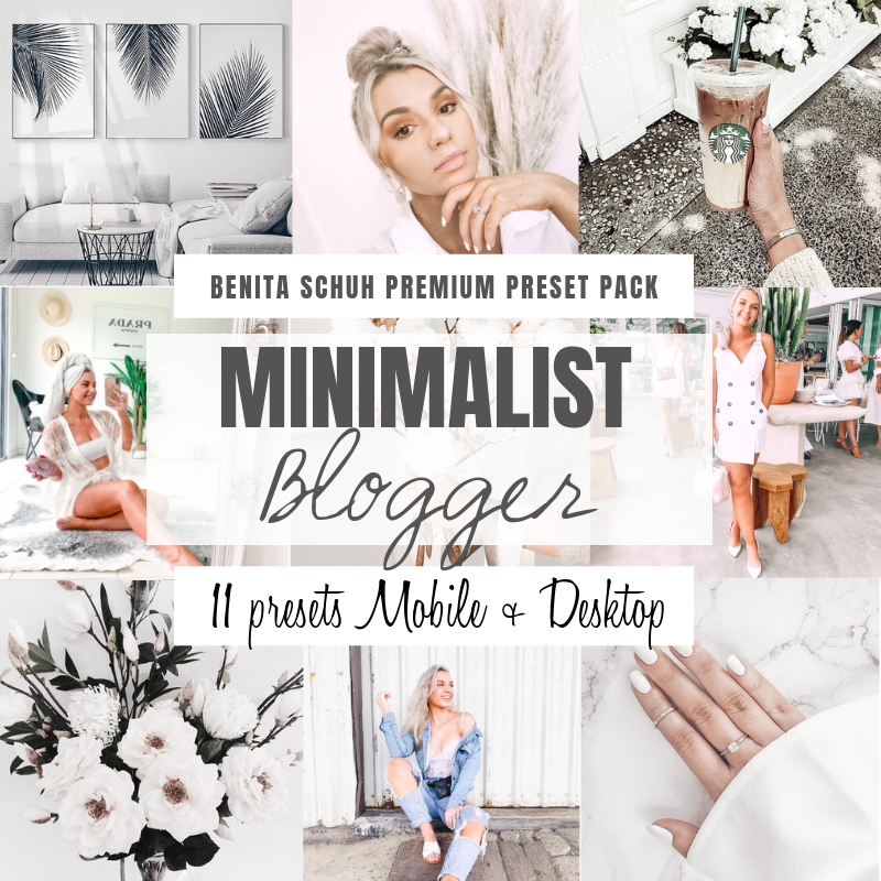 Buy THE MINIMALIST PRESET PACK (11 PRESETS INCLUDED) MOBILE + DESKTOPfrom Amalfi Boutique