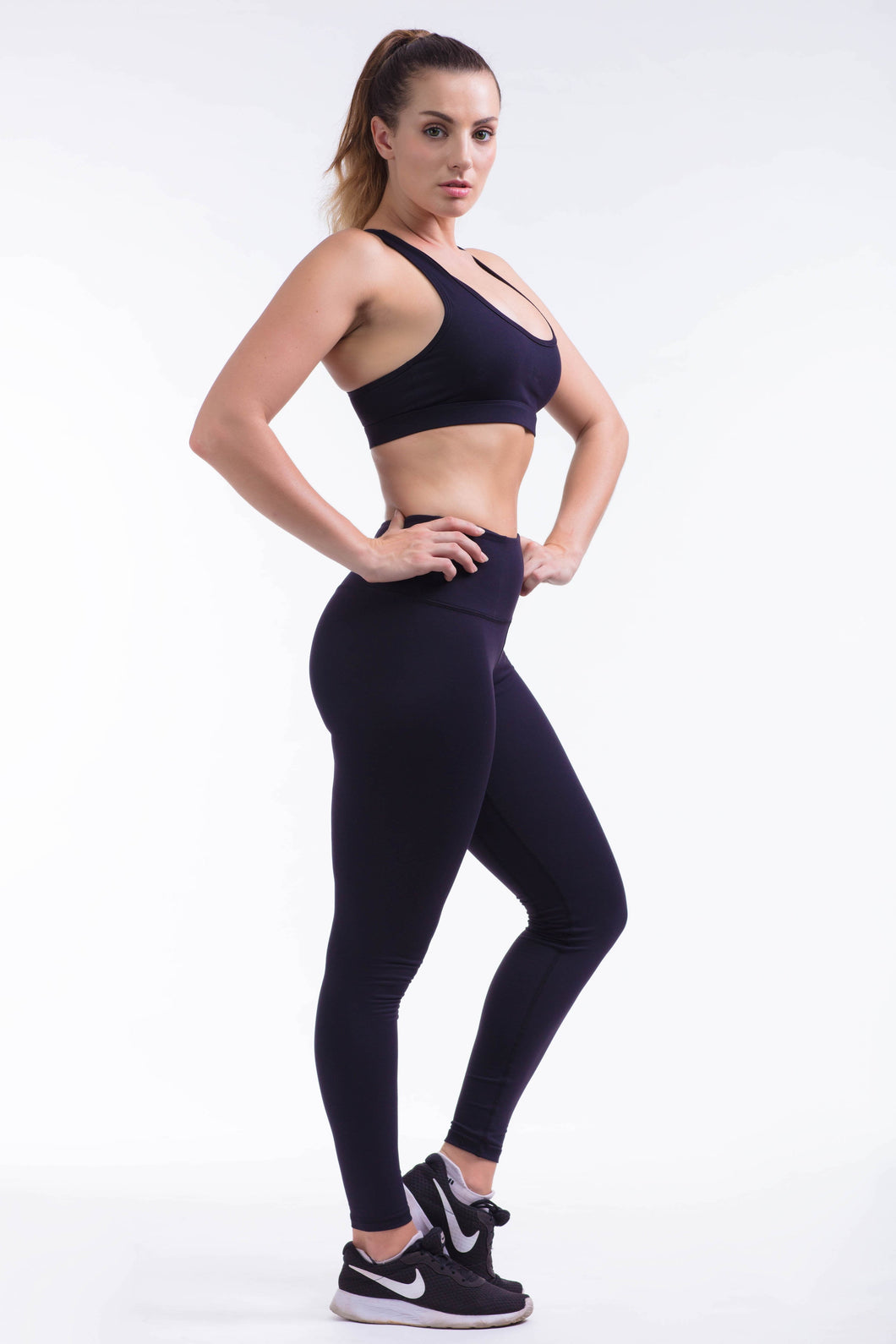 BARE IN MIND LEGGINGS - BLACK - hustletics.com