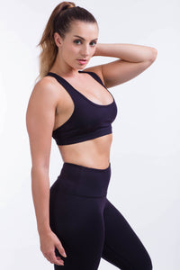BARE IN MIND BRA - BLACK - hustletics.com