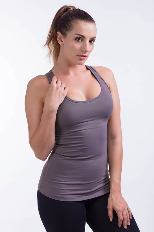 BARE IN MIND TANK - GREY