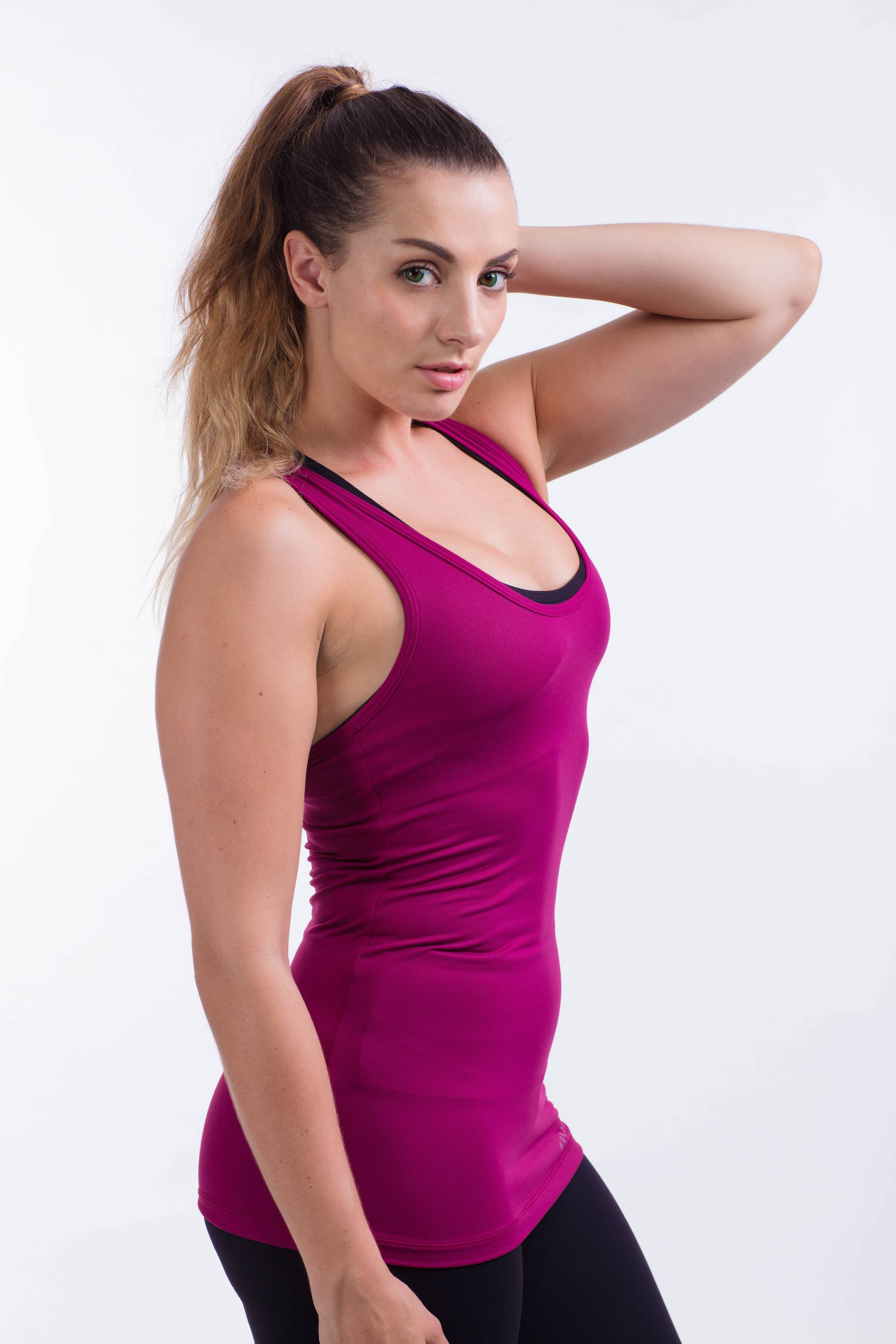 BARE IN MIND TANK - MAGENTA - hustletics.com