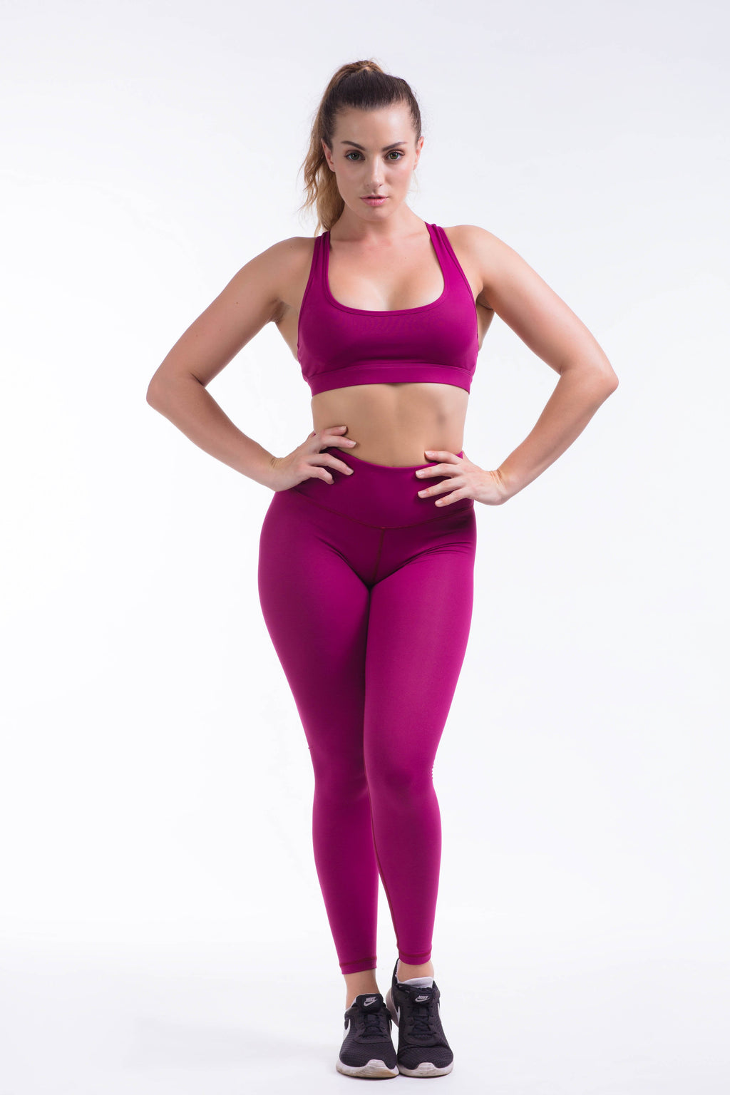 BARE IN MIND LEGGINGS - MAGENTA
