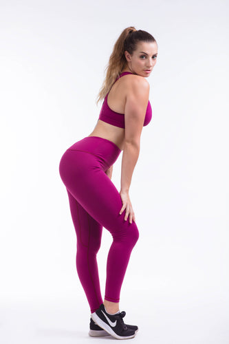 BARE IN MIND LEGGINGS - MAGENTA - hustletics.com