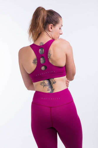 BARE IN MIND BRA - MAGENTA - hustletics.com