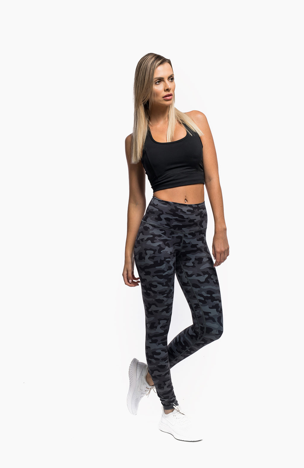 PURSUE LEGGINGS - CAMO BLACK - hustletics.com