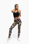 PURSUE LEGGINGS - CAMO YELLOW