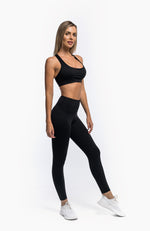 Load image into Gallery viewer, FLOW LEGGINGS - BLACK - hustletics.com