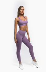 Load image into Gallery viewer, FLOW LEGGINGS - LILAC - hustletics.com