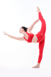 FLOW LEGGINGS - CHERRY