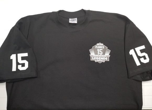 Silver and Black Legends - Jersee Style Flores HOF Heavyweight Shirt