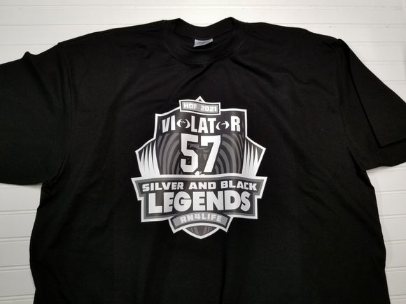 Silver and Black Legends - Violator Shield Legend  HOF Shirt
