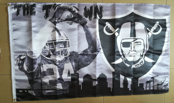 Oakland Town Woodson The O Raiders Flag