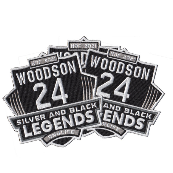 Silver and Black Legends - Woodson Hall Fame patch - PREORDER