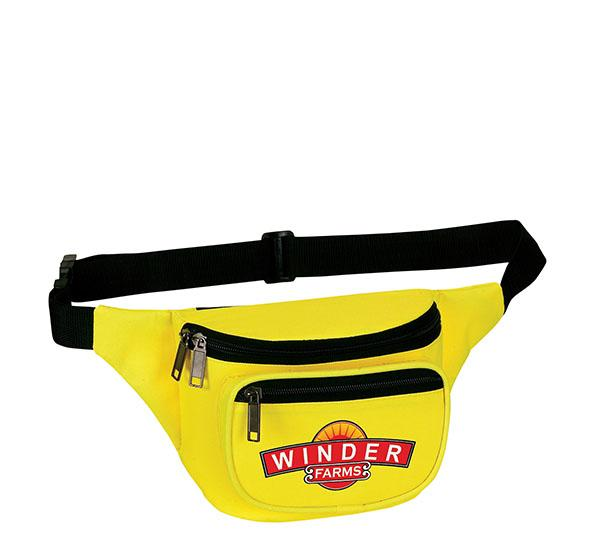 Three Zippered Fanny Pack - PhysxPromotions