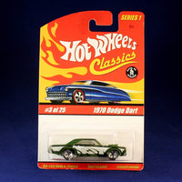Mattel Hot Wheels Classics Series 1 Dodge Dart (Green) #3/25