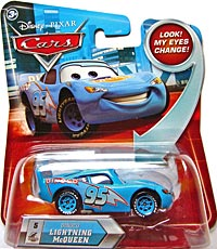 Disney / Pixar CARS Movie 1:55 Die Cast Dinoco Lightning McQueen #5 w/ Lenticular Eyes!