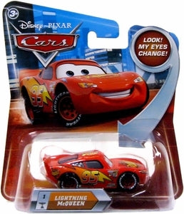 Disney / Pixar CARS Movie 1:55 Die Cast Lightning Mcqueen #1 w/ Lenticular Eyes!