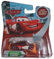 Disney / Pixar CARS Movie 1:55 Die Cast Radiator Springs Lightning Mcqueen #2 w/ Lenticular Eyes!
