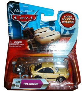 Disney / Pixar CARS Movie 1:55 Die Cast Tim Rimmer #129 w/ Lenticular Eyes!