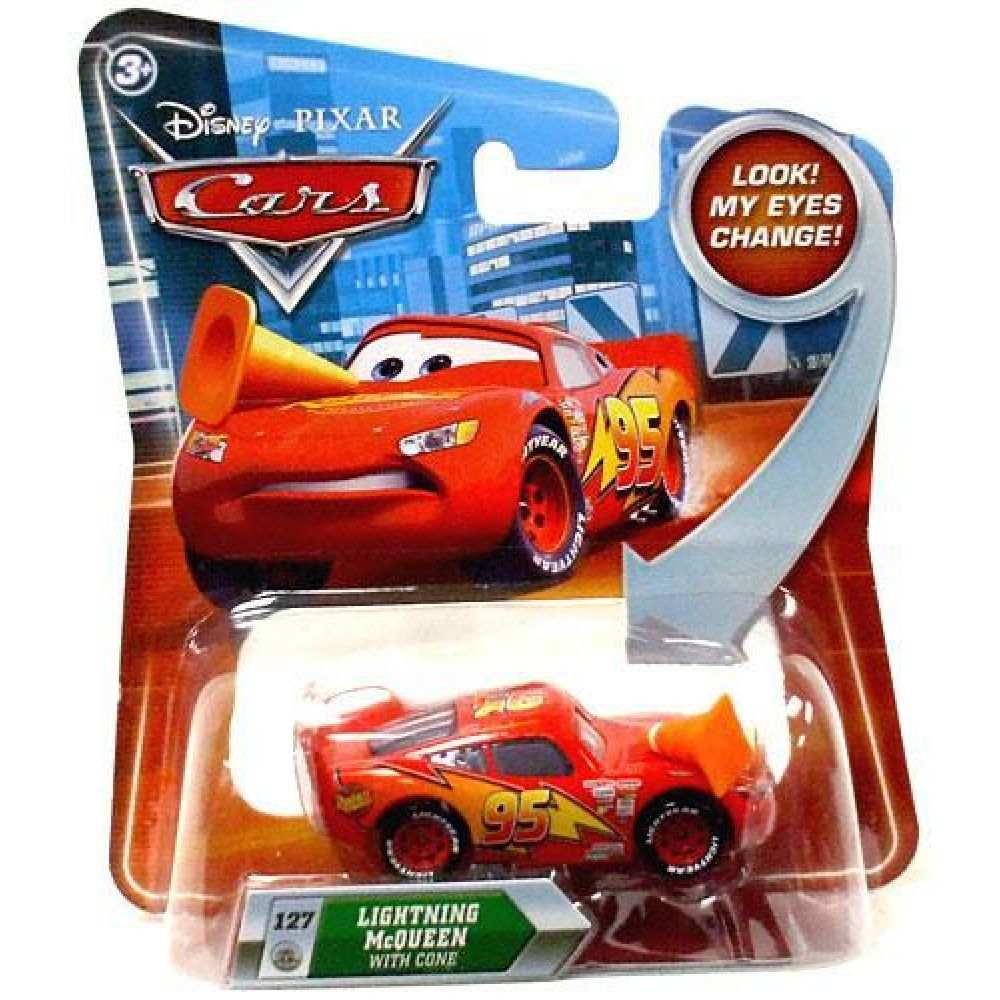 Disney Pixar Cars Movie Lightning McQueen with Cone #127 1