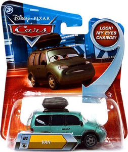 Disney / Pixar CARS Movie 1:55 Die Cast Van #61 w/ Lenticular Eyes!