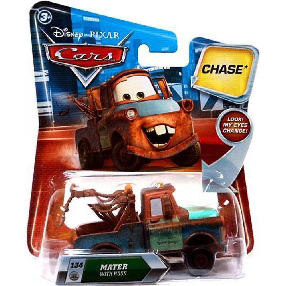 Disney Pixar CARS Movie 1:55 Die Cast Mater with Hood (Chase) w/ Lenticular Eyes! 1