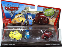 Copy of Disney Pixar CARS 2 Movie 1:55 Die Cast Disney Pixar CARS 2 Movie 1:55 Die Cast Luigi, Guido, and Uncle Topolino 3-pack 1
