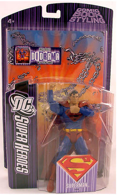 DC Super Heroes S3 Superman Black Logo Variant Select Sculpt Series