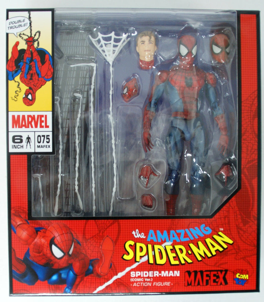 Mafex No. 075 Spider-Man Spiderman Comic Ver. Action Figure Medicom