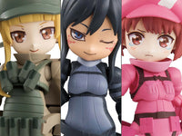 Desktop Army Sword Art Gun Gale Online Trading Figures Box Set of 3 1