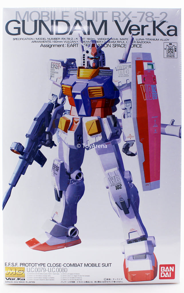 Gundam 1/100 MG Gundam 0079 RX-78-2 Ver. Ka Gundam Model Kit