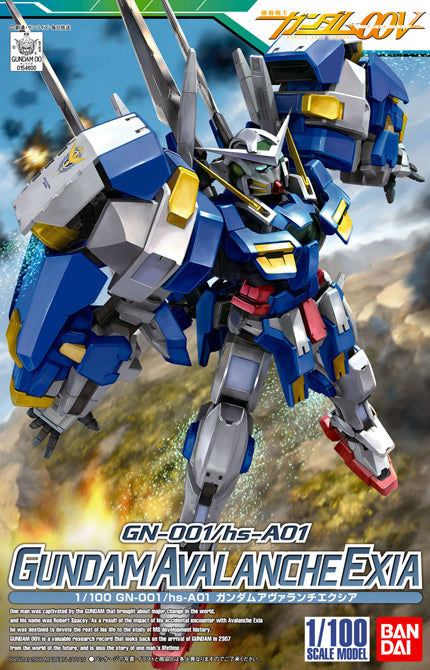 Gundam 00 1/100 #09 NG-001/hs-A01 Gundam Avalanche Exia Mobile Suit Model Kit