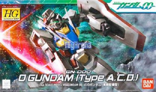 Gundam 00 1/144 HG #45 GN-000 O Gundam [Type A.C.D.] Model Kit