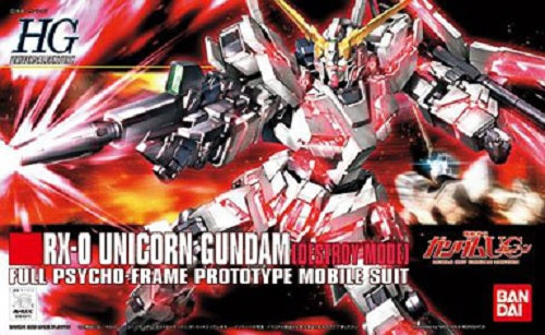 Gundam Unicorn 1/144 HGUC #100 RX-O Unicorn Gundam [Destroy Mode] Model Kit